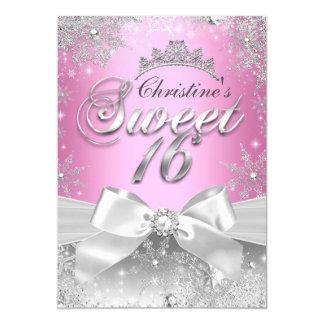 Prinzessin Winter Wonderland Pink Sweet 16 laden 12,7 X 17,8 Cm Einladungskarte