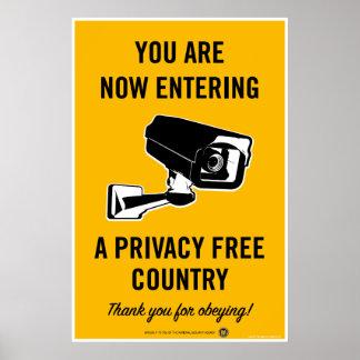 Privatleben-freies Land-Plakat Poster