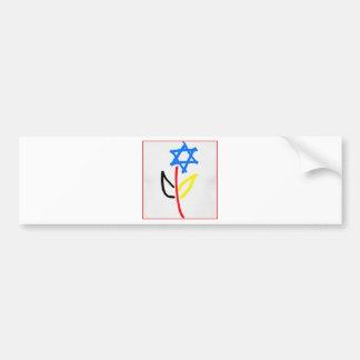 Pro Israel Autoaufkleber