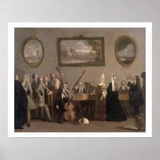 Probe einer Oper, c.1709 (Öl auf Leinwand) Poster