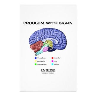 Problem mit Gehirn-Innere (Gehirn-Anatomie) Druckpapier