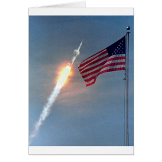 Produkteinführung Apollo 11, mit Flagge, die NASA Karte