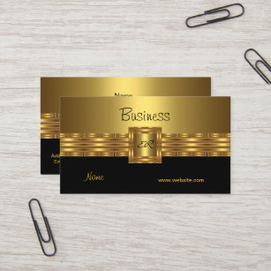 Schwarze Gold Visitenkarten Zazzle At