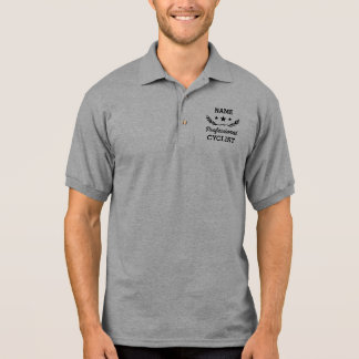 ProGrafikdesign des radfahrer-  Poloshirt
