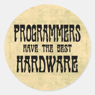 Programmierer-Hardware Runder Aufkleber