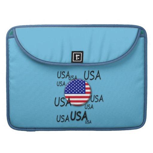 Prohülsen USA Macbook Sleeve Für MacBooks