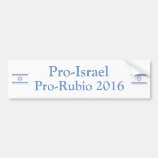 Proisrael Prorubio 2016 Autoaufkleber