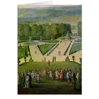 Promenade von Louis XIV durch den Parterre du Nord Karte
