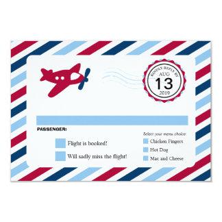 Propeller-Flugzeug-Luftpost-Geburtstag UAWG 8,9 X 12,7 Cm Einladungskarte