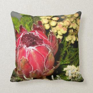 Protea-Blumenstrauß-Foto-Kissen Zierkissen