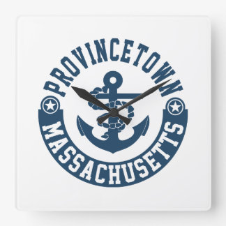 Provincetown Massachusetts Quadratische Wanduhr