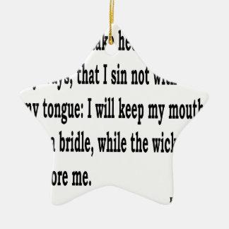 Ps. 39:1, w keramik Stern-Ornament