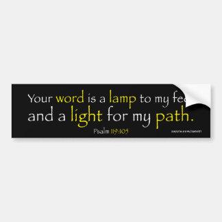 Psalm-119:105 Autoaufkleber