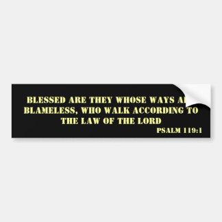 Psalm-119:1 Autoaufkleber