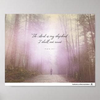 Psalm-23:1 - der Lord ist mein Schäfer Poster