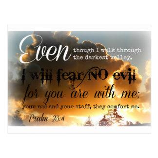 Psalm-23:3 goldener Himmel Postkarten