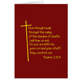 Psalm-23:4 Grußkarte