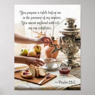 Psalm-23:5 bereiten Sie eine Tabelle vor mir, Poster
