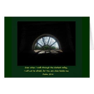 Psalm 23; Schwierige Zeit Grußkarte