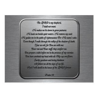 Psalm 23 - Stahl Postkarte