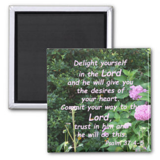 Psalm-37:4 - 5 quadratischer magnet