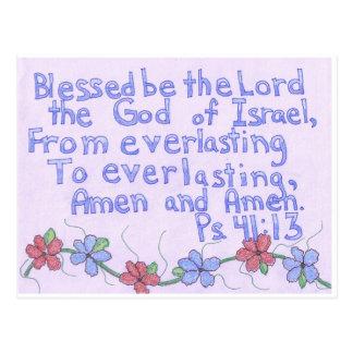Psalm-41:13 Postkarte