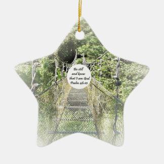 Psalm-46:10 Keramik Stern-Ornament
