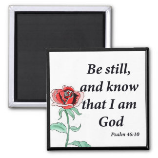 Psalm-46:10 Quadratischer Magnet