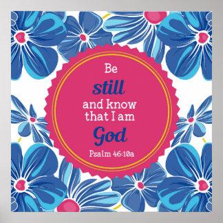 Psalm-46:10 wissen sein noch und… poster