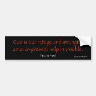 Psalm-46:1 Autoaufkleber