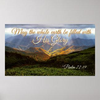 Psalm 72: Am 19. Mai wird die Erde mit seinem Ruhm Poster