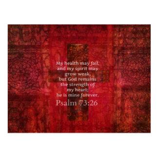 Psalm-73:26 inspirierend BIBEL-Vers Postkarte
