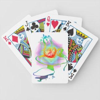 Pschedelic Alice im Wunderland-Raupen-Farben Bicycle Spielkarten