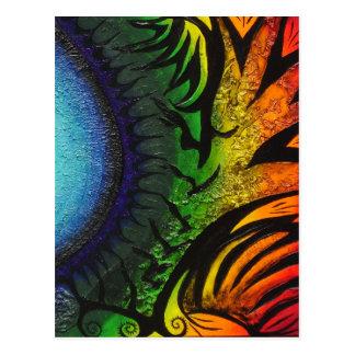 psychedelische abstrakte Malerei Postkarte