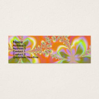 Psychedelische Blumen Mini Visitenkarte