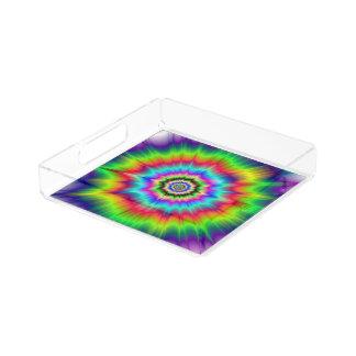 Psychedelische Farbexplosion Acryl Tablett