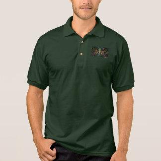 Psychedelische Federn Polo Shirt