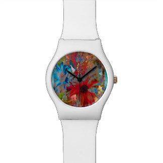 Psychedelische Gänseblümchen Uhr