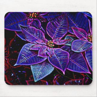 Psychedelische Poinsettia Mousepad