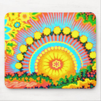 Psychedelische Sonnenuntergangsechziger jahre Mousepads