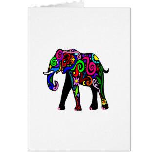 Psychedelischer Elefant Karte