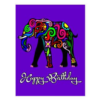Psychedelischer Elefant Postkarte