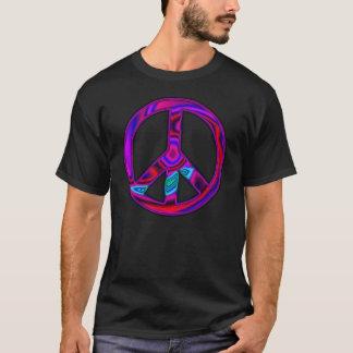 Psychedelischer Friedenszeichen-T - Shirt