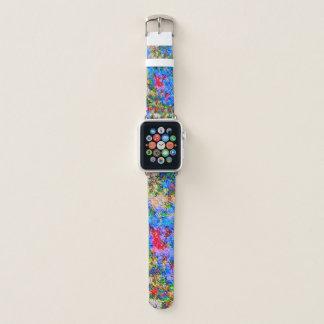 Psychedelischer Neonnova-Sturm Apple Watch Armband