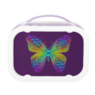 Psychedelischer Schmetterling Brotdose
