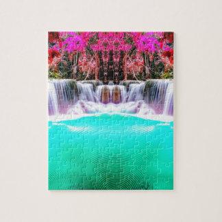 Psychedelischer Wasserfall Foto Puzzles