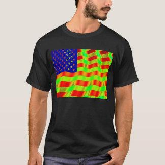 Psychedelisches Flaggen-Shirt T-Shirt