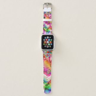 Psychedelisches Kleeblatt-Apple-Uhr-Leder-Band Apple Watch Armband