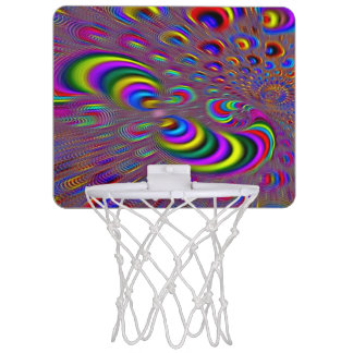 Psychedelisches starkes Hologramm-Element-Miniband Mini Basketball Ring