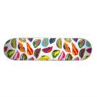 Psychische Retro bunte Muster Lippen 18,7 Cm Mini Skateboard Deck